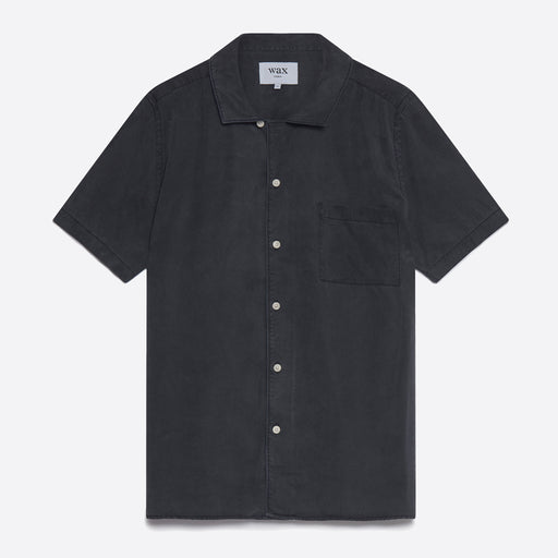 Wax London Fazely Short Sleeve Shirt in Black