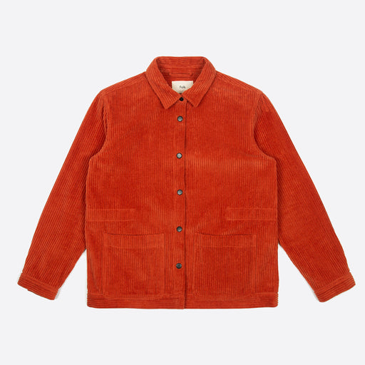 Folk Painters Jacket in Brick Red Cord