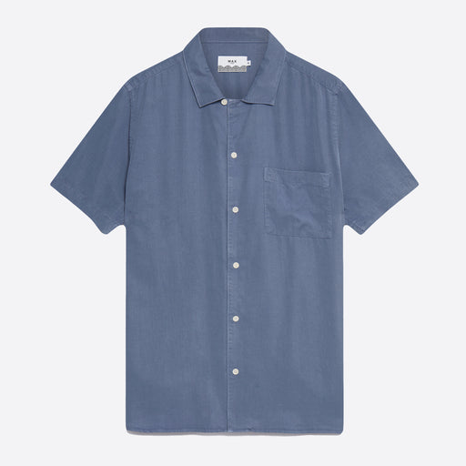 Wax London Fazely Short Sleeve Shirt in Folkestone Grey