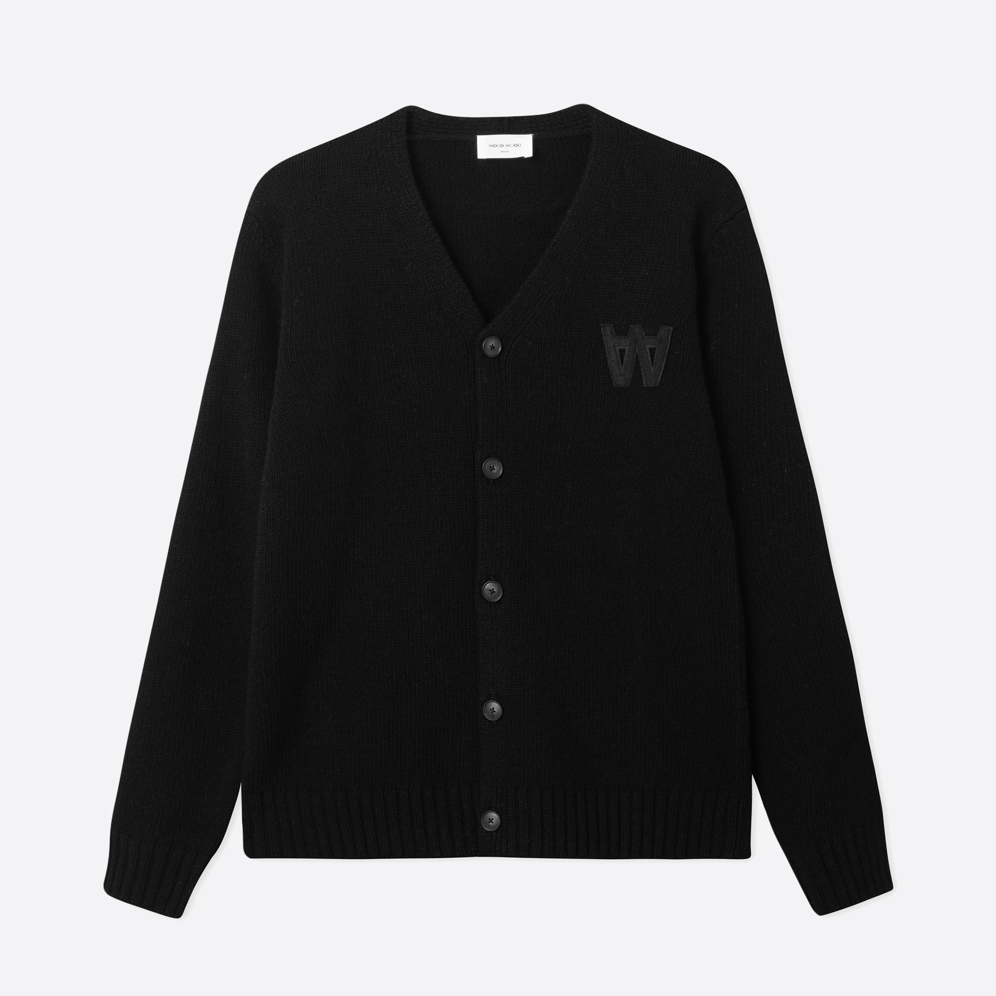 Wood Wood Kalle Cardigan in Black