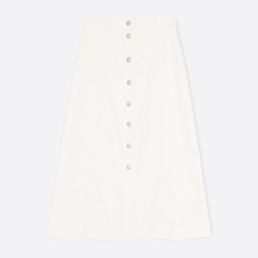 Ganni Chino Skirt in Egret