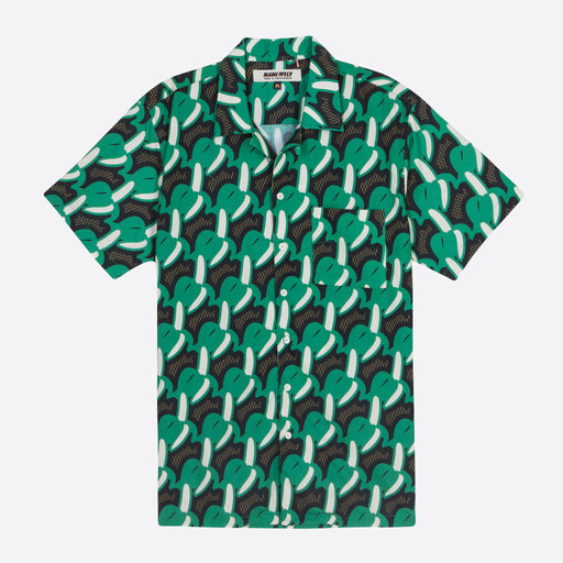 Mami Wata Bananas Shirt in Green/ Brown
