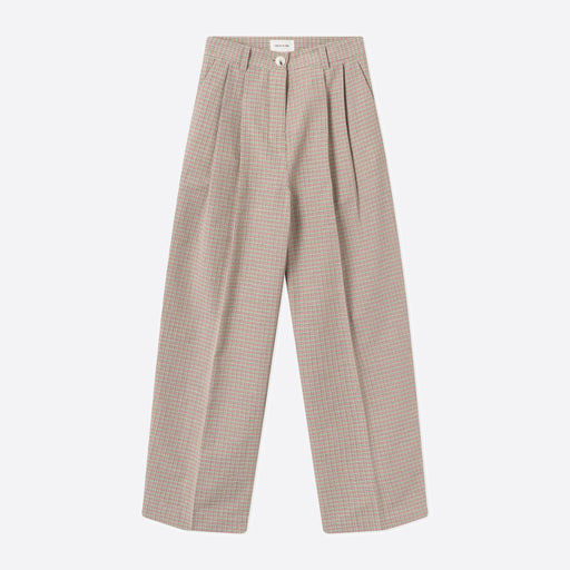 Wood Wood Sunna Trousers in Green Check