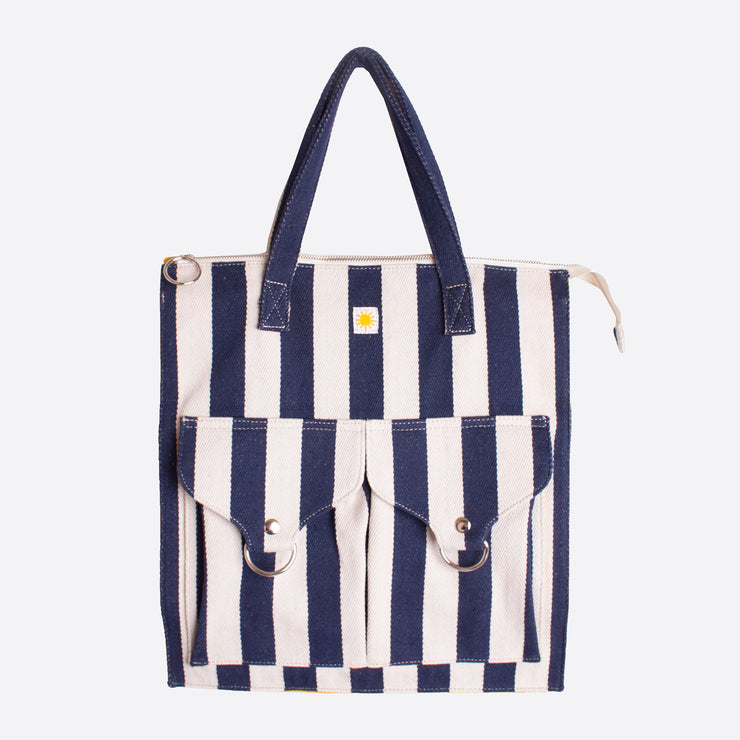 LF Markey Striped Beach Bag in Navy