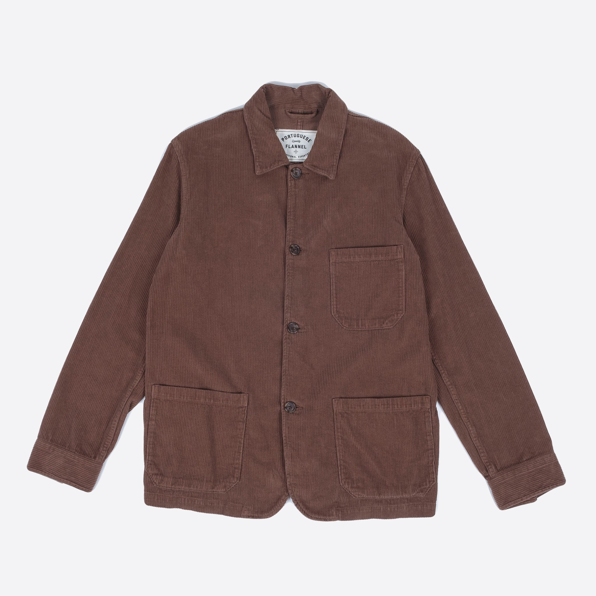 Portuguese Flannel Labura Overshirt in Brown Corduroy