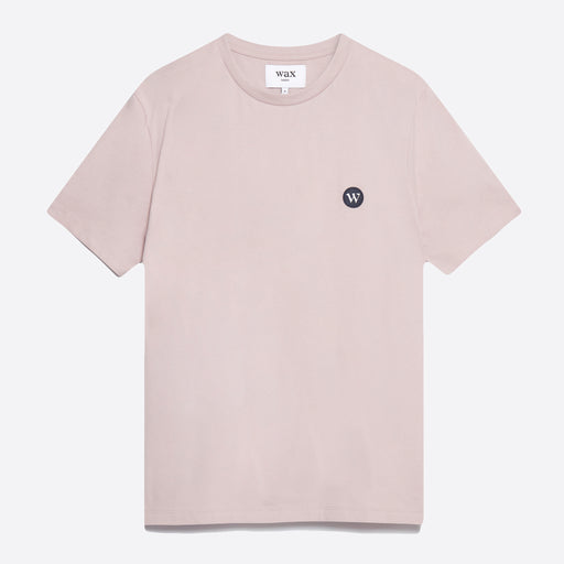 Wax London Reid Badge T-Shirt in Violet Pink