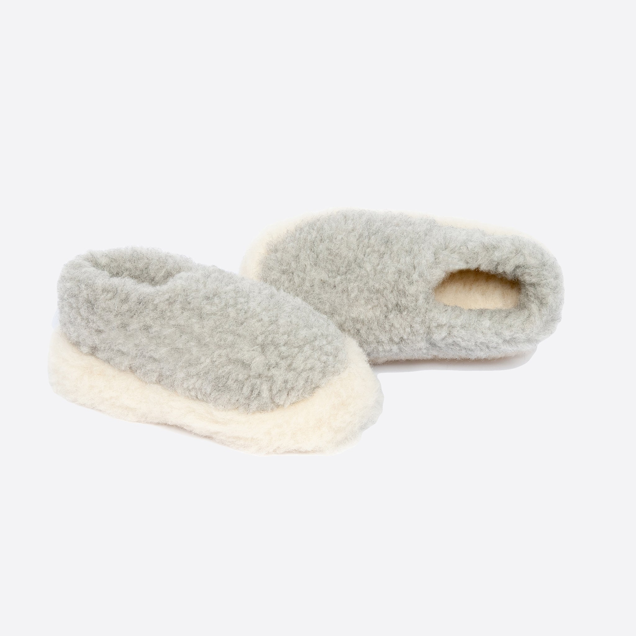 Yoko Wool Siberian Slippers in Grey