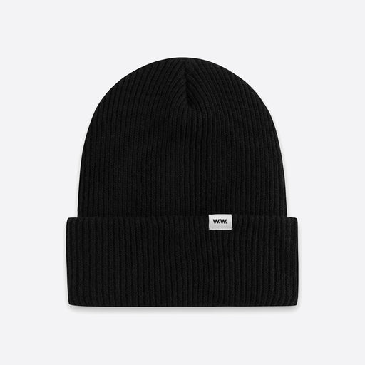Wood Wood Mande Beanie in Black