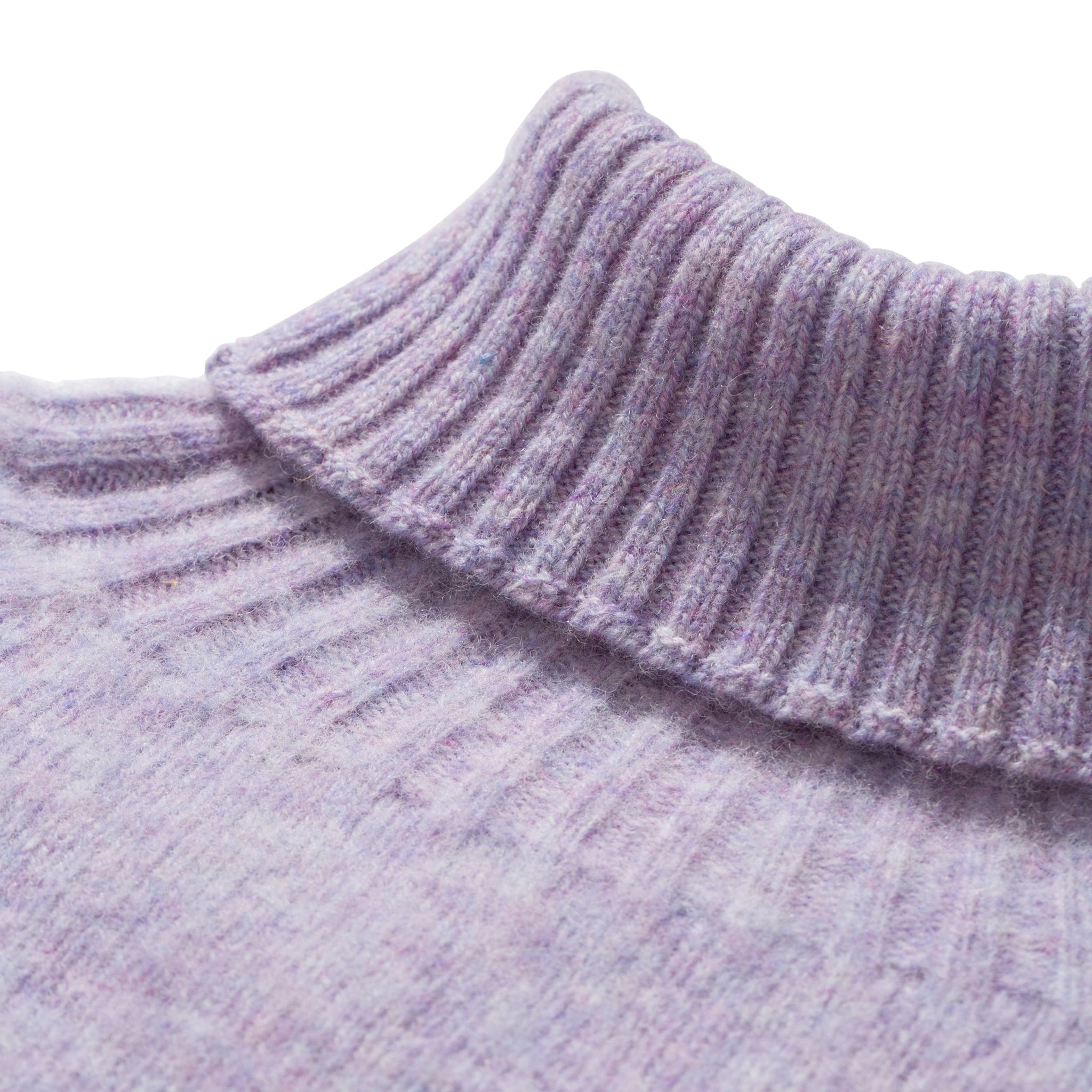 Norse Projects Helvig Lambswool Jumper in Pale Lilac