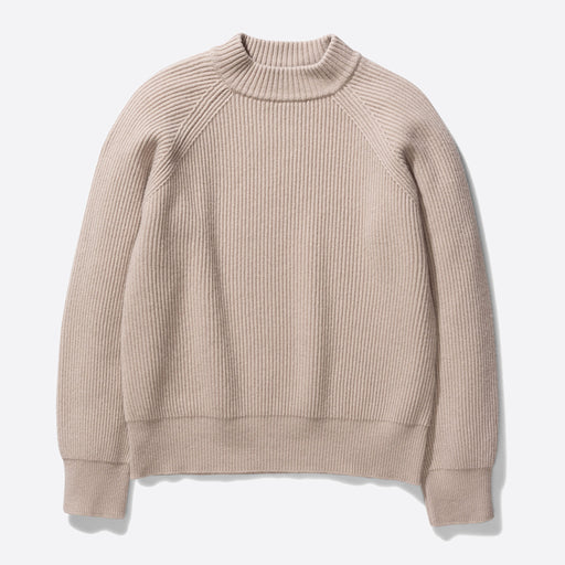 Norse Projects Evelina Lambswool Jumper in Utility Khaki