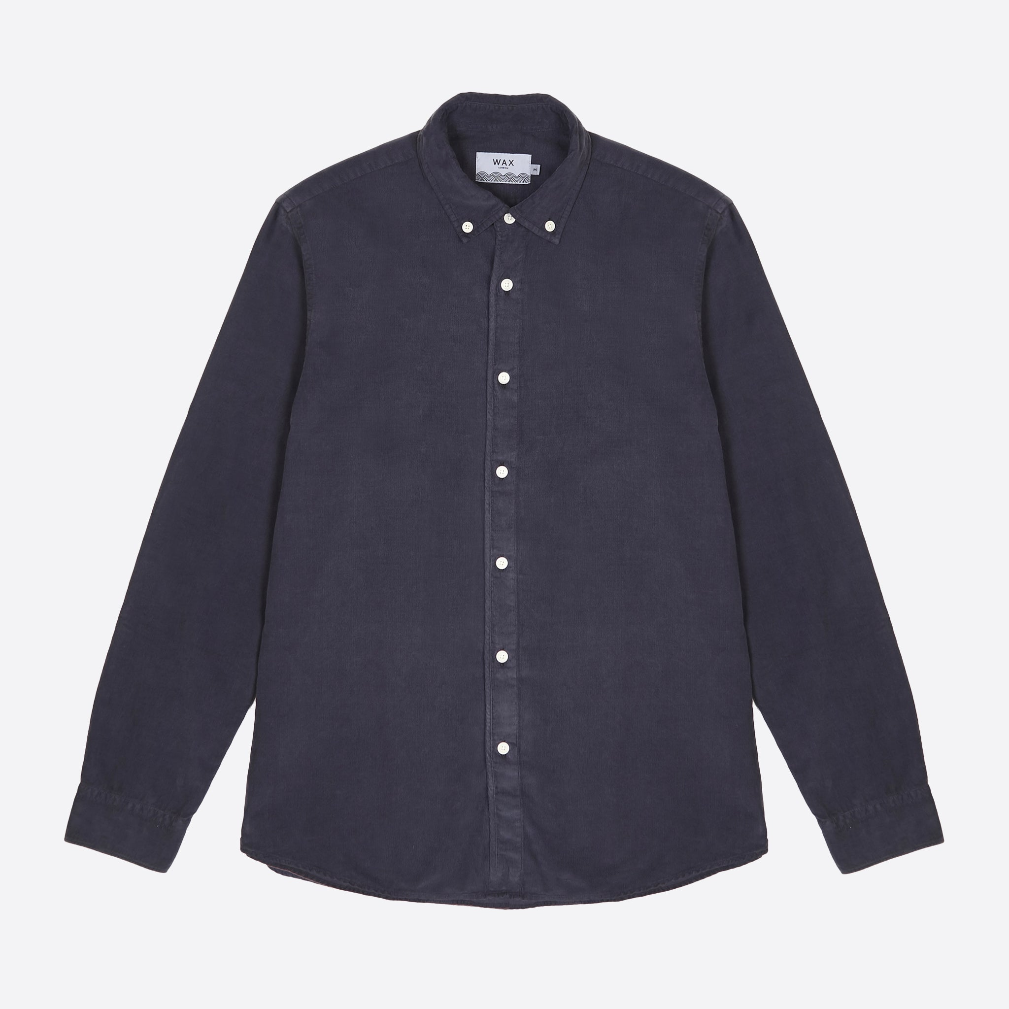 Wax London Bampton Shirt in Deep Ocean