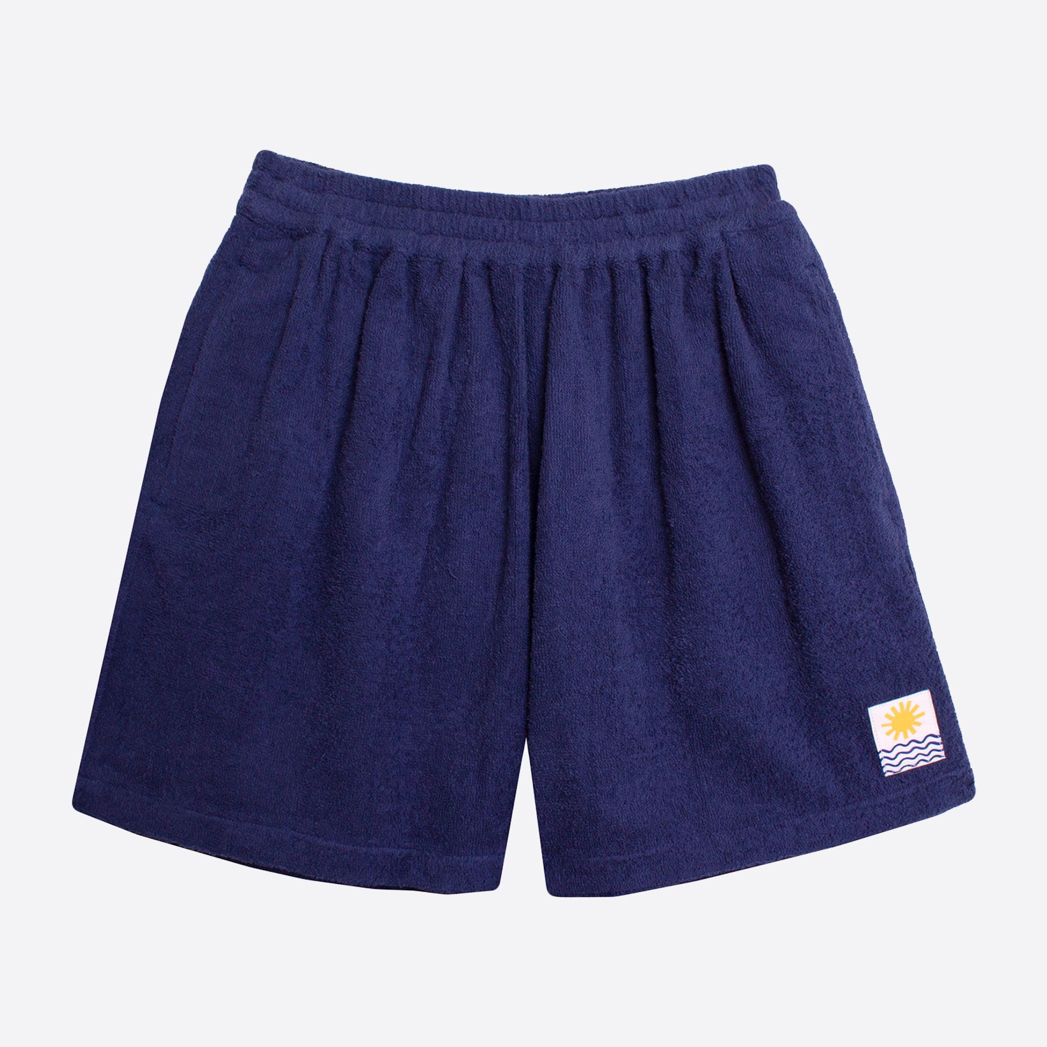 LF Markey Basic Towelling Shorts in Navy