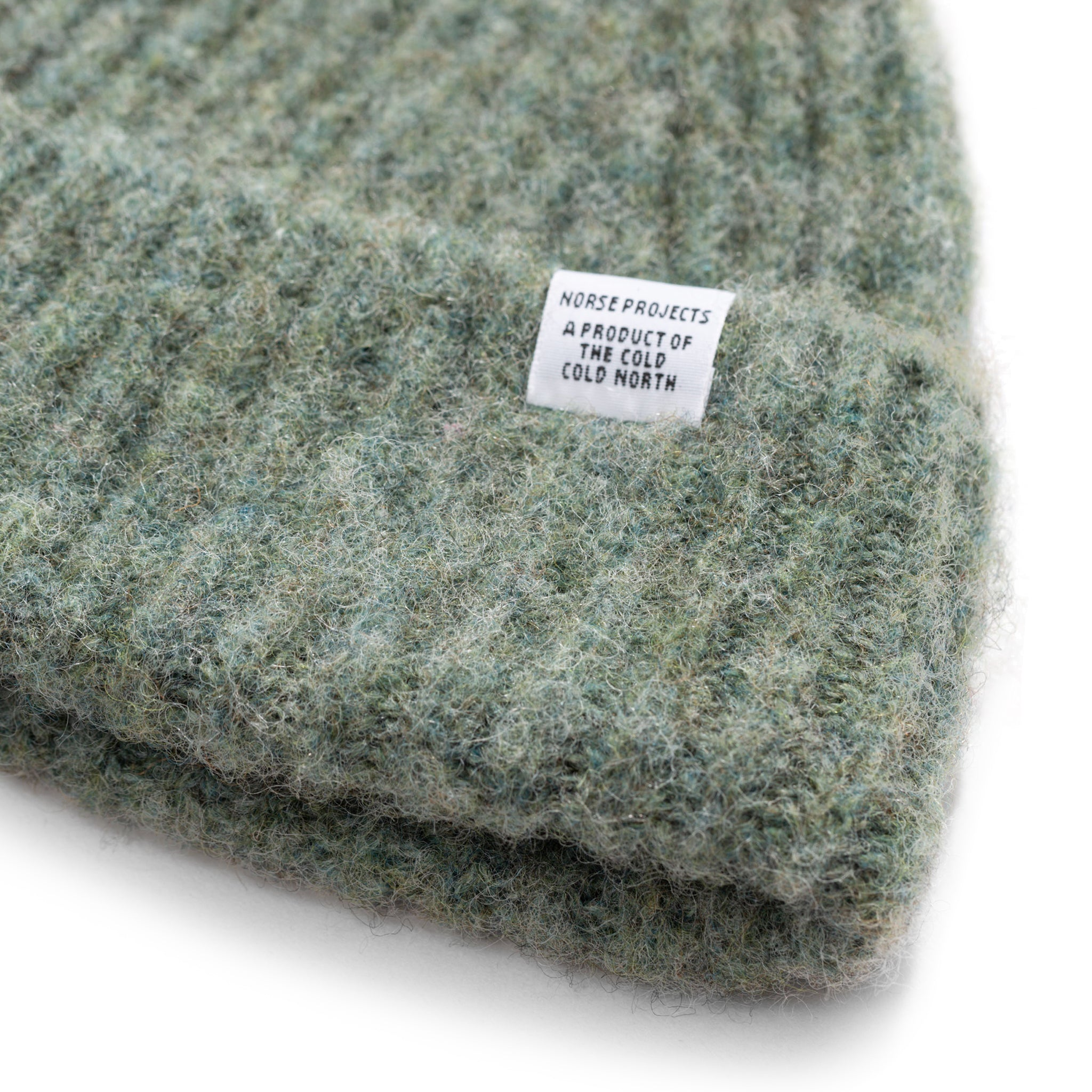 Norse Projects Marta Brushed Beanie in Cloudy Teal