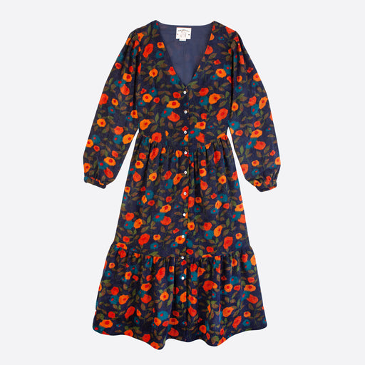 Meadows Orchard Dress in Navy Floral