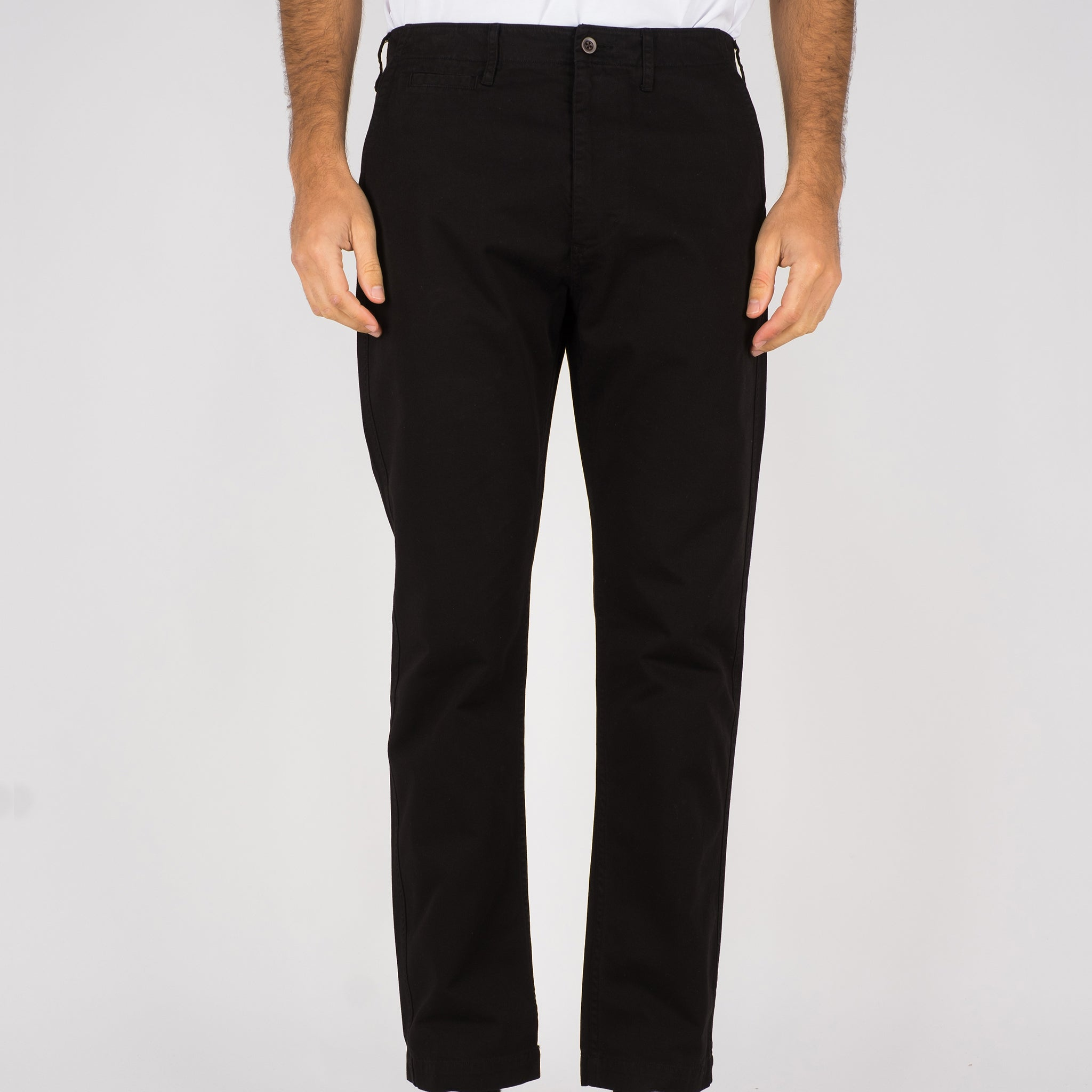 Portuguese Flannel Labura Trousers in Black
