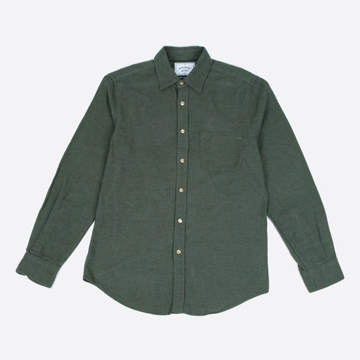 Portuguese Flannel Teca Shirt in Moss Green