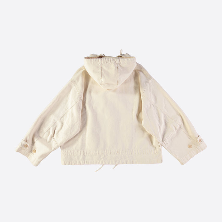 Girls of Dust Nuclear Rain Jacket in Natural Bull Denim