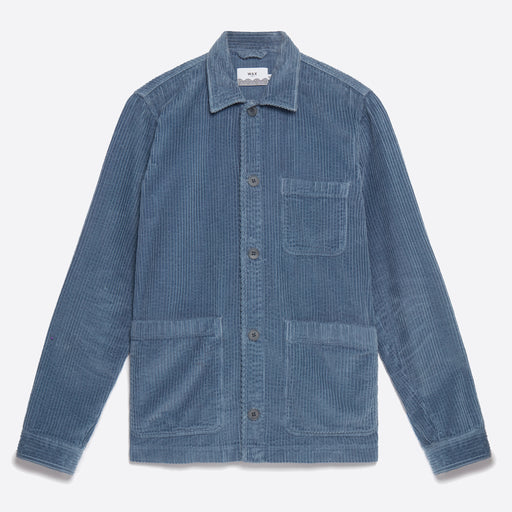 Wax London Chet Jacket in Folkeston Grey/Blue