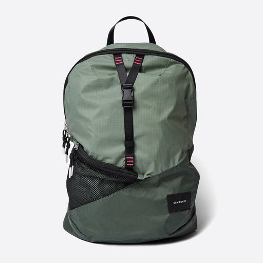Sandqvist Erland Lightweight Backpack in Multi Green