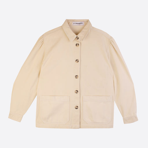 LF Markey Puff Sleeve Chore Coat in Ivory