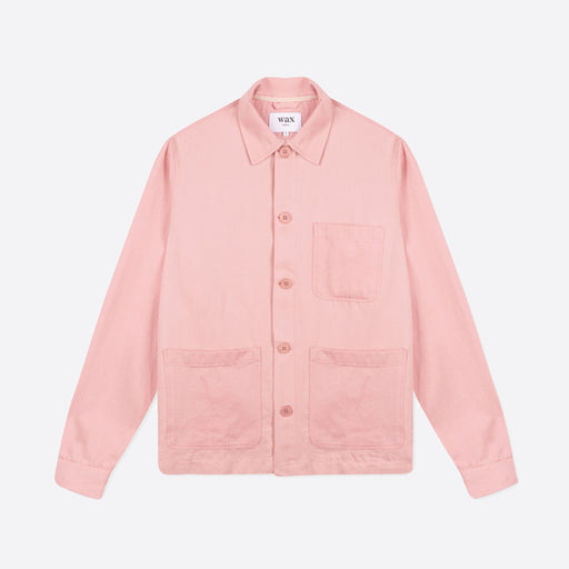 Wax London Chet Overshirt in Pink