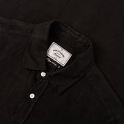 Portuguese Flannel Linen Shirt in Black