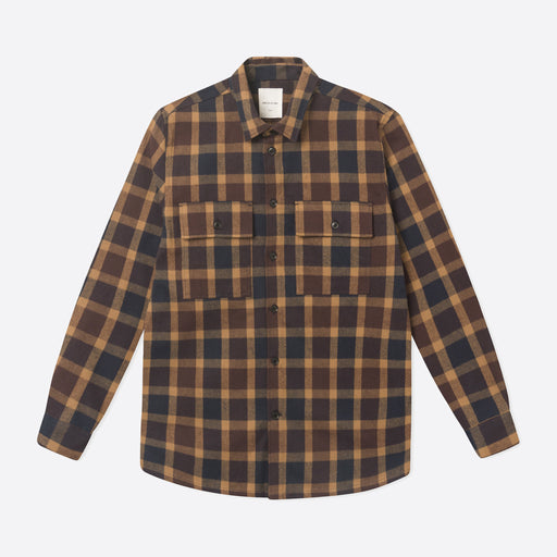 Wood Wood Franco Shirt in Navy Check