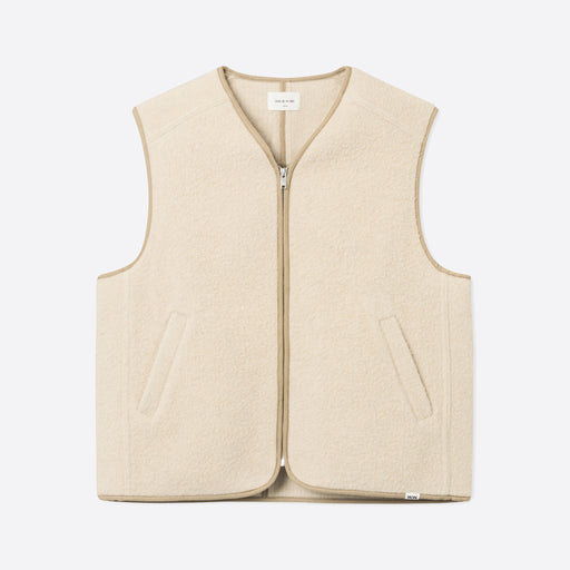 Wood Wood Victor Vest in Light Beige