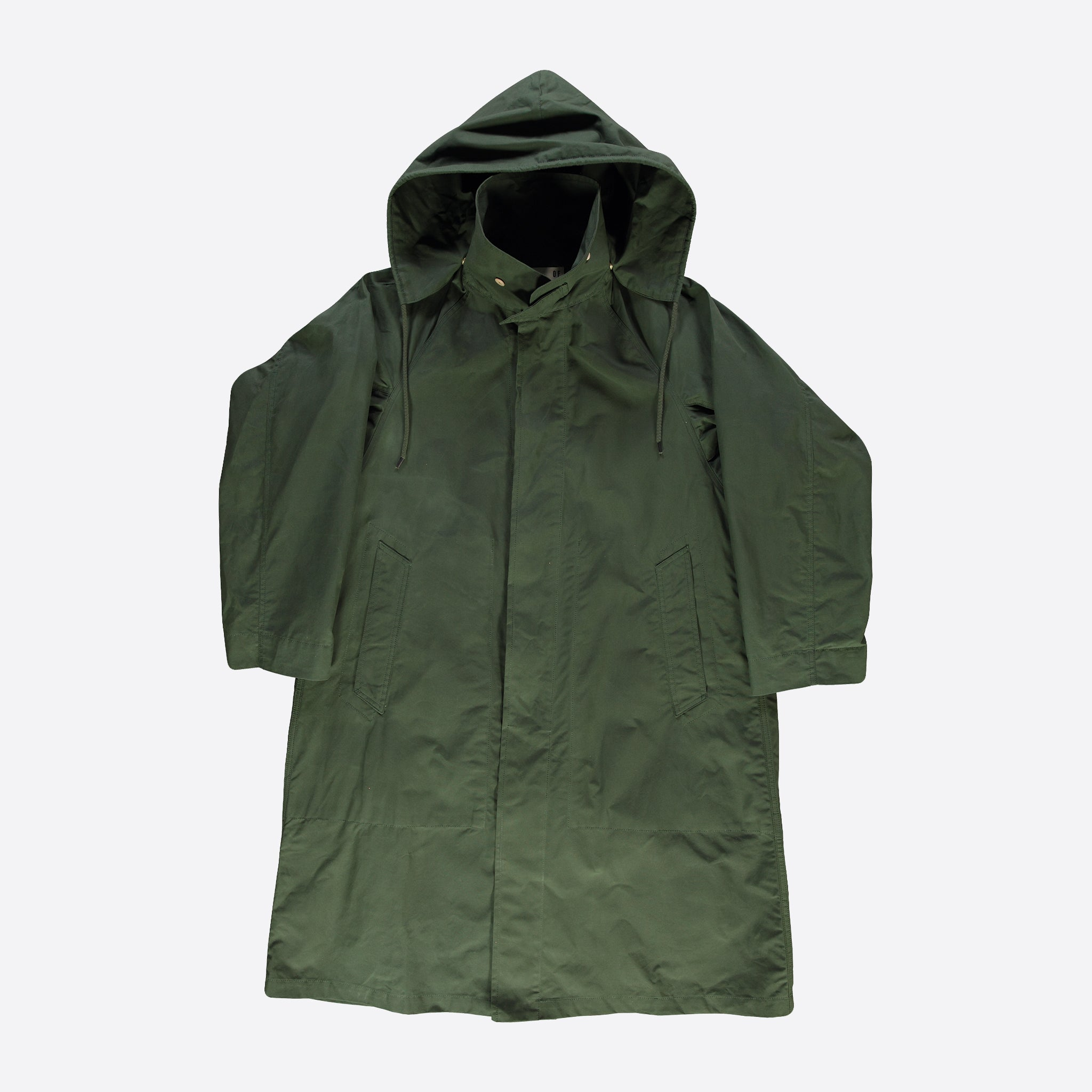 Girls of Dust Waxed Army Trenchcoat in Racing Green