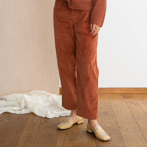 Sideline Leah Trousers in Brick Cord