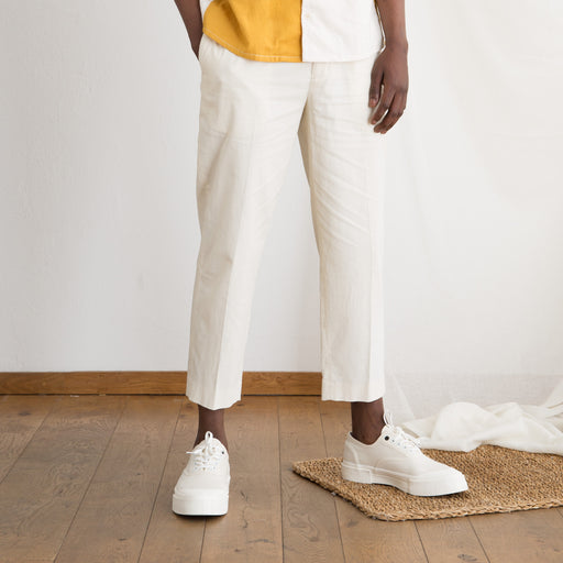 Kestin Hare Wick Trouser in Off White Cord