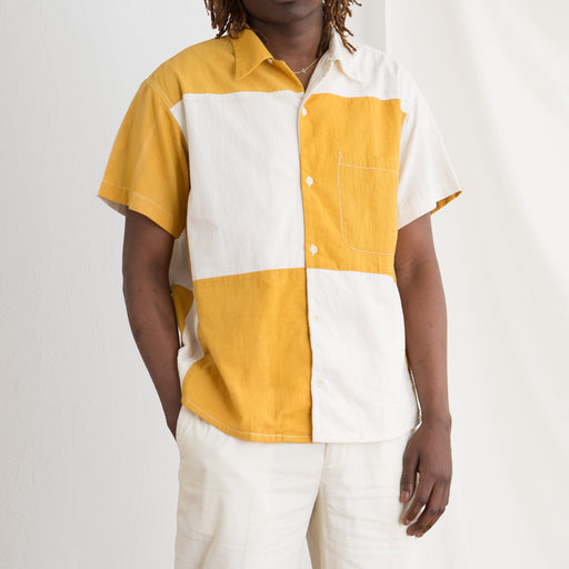 STORY mfg Shore Shirt in Jackfruit Patchwork
