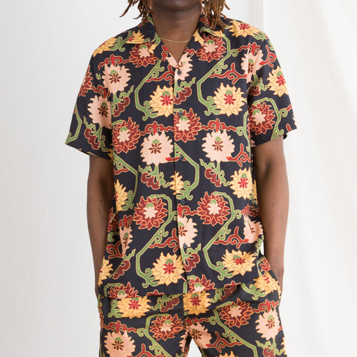 Saturdays NYC Canty Peony Shirt in Peony Tapestry