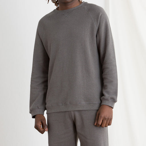 Satta Hemp Crew Sweat in Slate