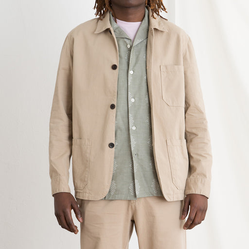 Portuguese Flannel Labura Overshirt in Sand