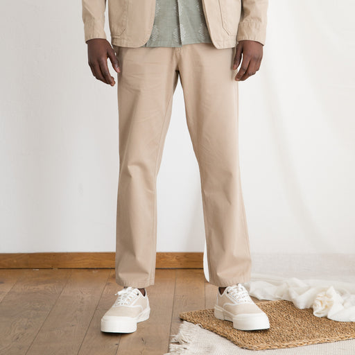 Portuguese Flannel Mini Golf Trousers in Sand