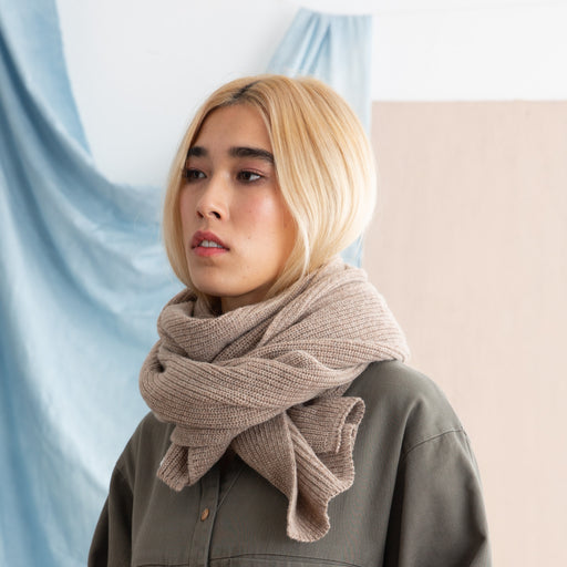 Wood Wood Ran Scarf in Beige
