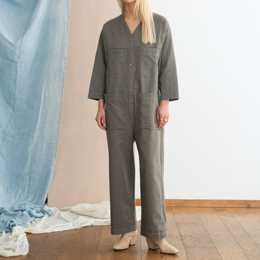 Ilana Kohn Tuck Coverall in Peat