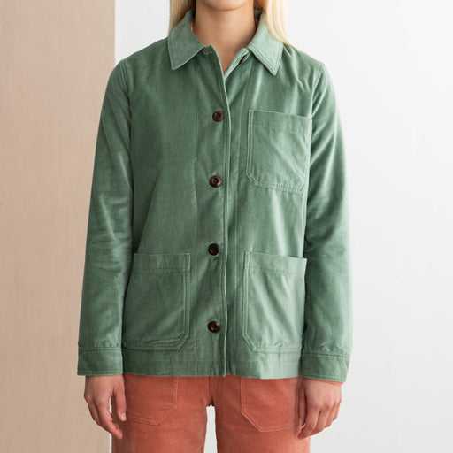Wood Wood Judy Jacket in Dusty Green