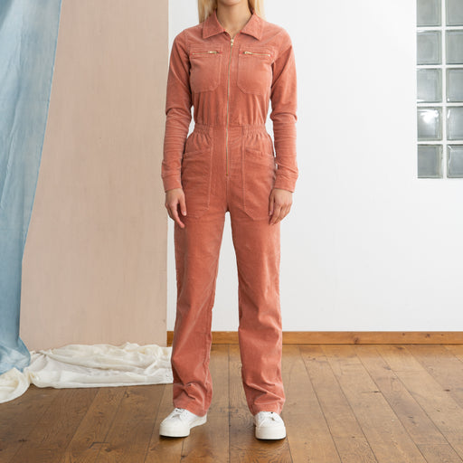LF Markey Danny Long Sleeve Boilersuit Copper Blush