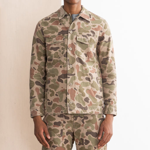 Wood Wood Fabian Shirt in Taupe Camo
