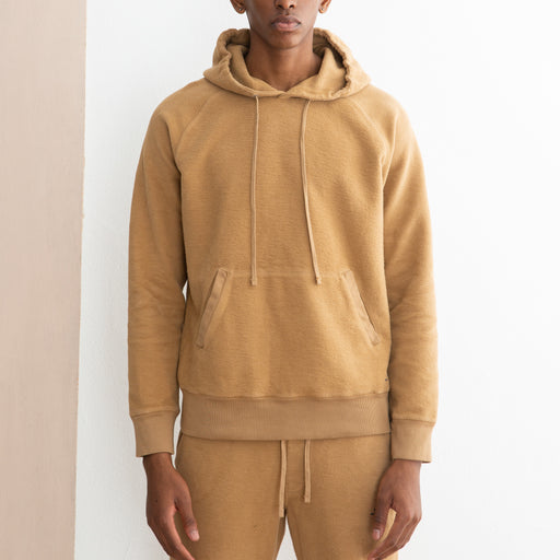 Saturdays NYC Ditch Hooded Reverse Sweatshirt in British Khaki