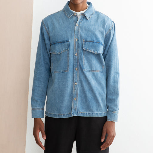 LF Markey Ando Shirt in Mid Blue Denim
