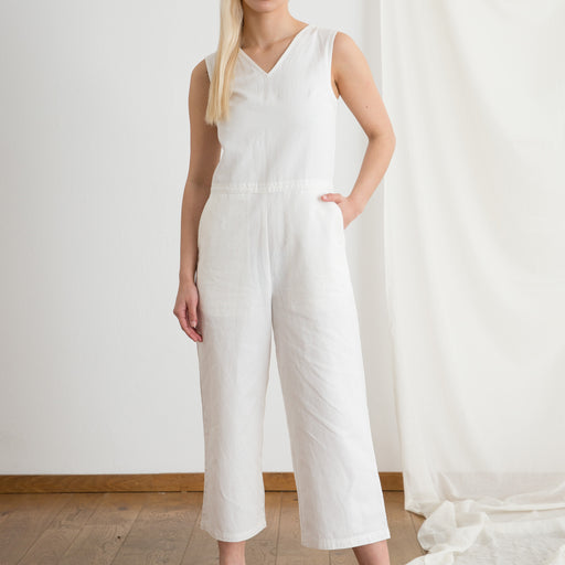 Folk V Overall in White