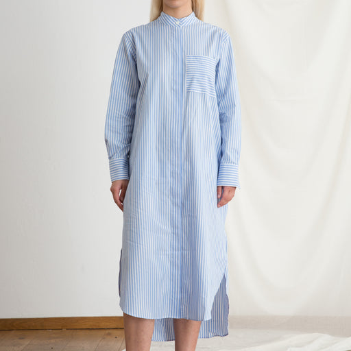Norse Projects Ivalo Summer Stripe Dress in Pale Blue