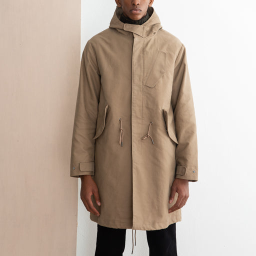 Saturdays NYC William Moleskin Parka in British Khaki