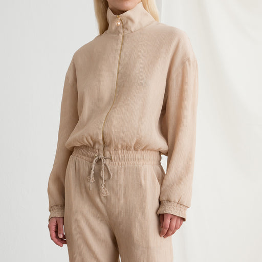 Nanushka Mercury Jumpsuit in Sand