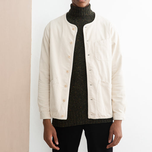 Kestin Hare Neist Cord Overshirt in Winter White