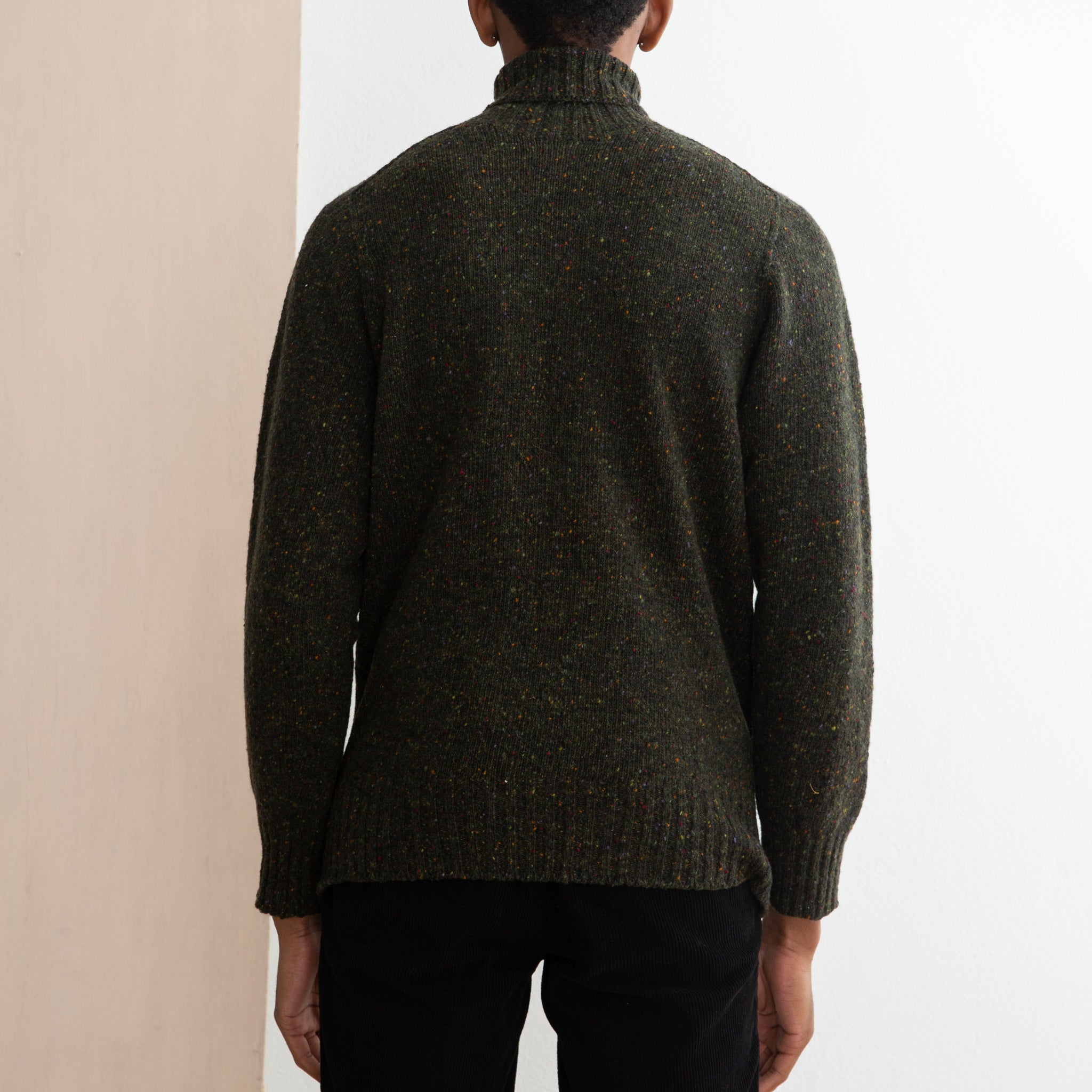 Kestin Hare Evans Roll Neck in Dark Forest