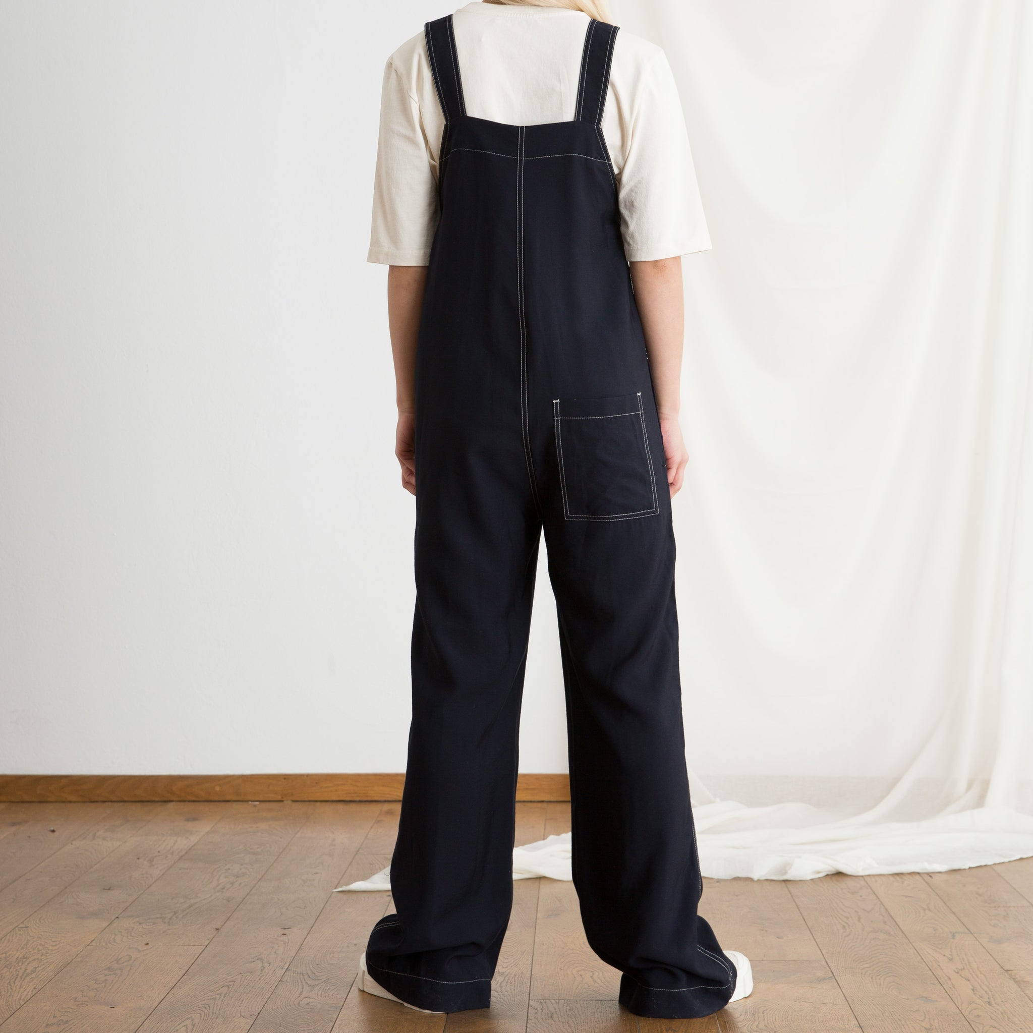 Wood Wood Annie Jumpsuit in Navy